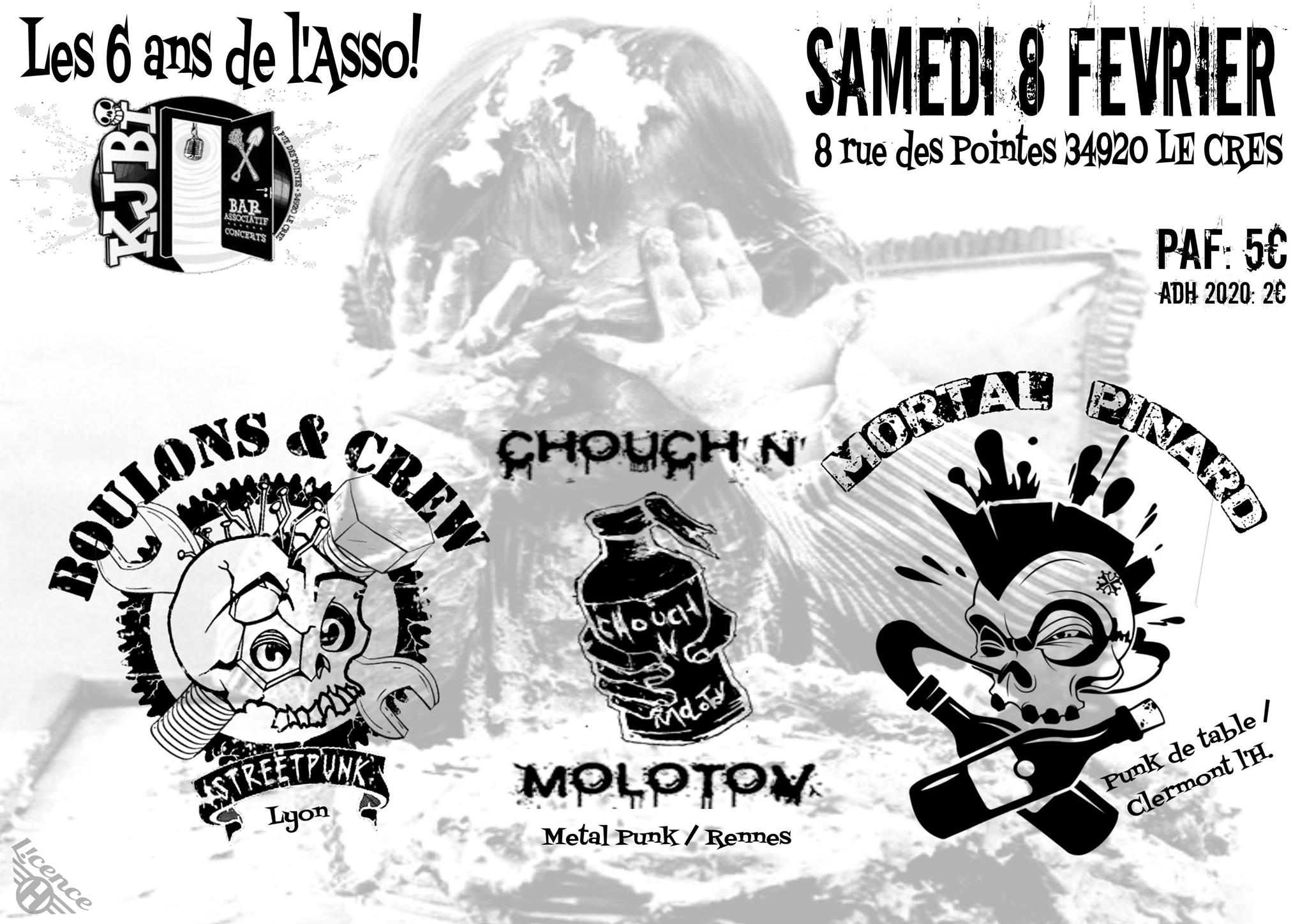 6 ans ! Chouch'n Molotov / Boulons & Crew / Mortal Pinard
